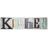 Kitchen Corrugated Metal Wall Decor